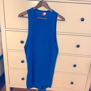 H&M cobalt blue high low dress